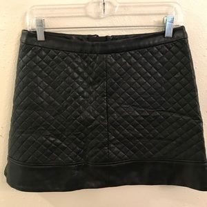W118 by Walter Black short faux leather skirt